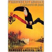 "Trademark Global ""L'Amazone Framed"" Canvas Art, 18"" x 24"""