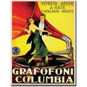 "Trademark Global ""Grafafoni Columbia"" Canvas Art, 18"" x 24"""