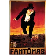 "Trademark Global ""Fantomas"" Framed Canvas Art, 18"" x 24"""