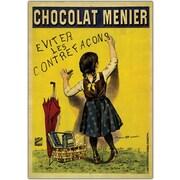 "Trademark Global Firmin Boisset ""Chocolate Menier"" Canvas Art, 24"" x 32"""