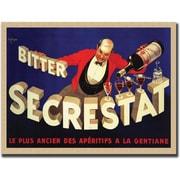 "Trademark Global Robert Wolfe ""Bitter Secrestat"" Framed Canvas Art, 35"" x 47"""