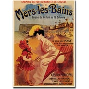 "Trademark Global ""Mers Les Bains"" Giclee on Canvas Art, 18"" x 24"""