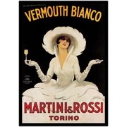 "Trademark Global Marcello Dudovich ""Vermouth Bianco Martini & Rossi"" Wrapped Canvas Art"