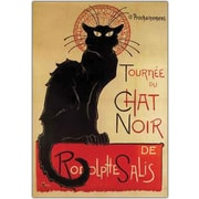 "Trademark Global ""Tournee du Chat Noir"" Framed Canvas Art, 24"" x 32"""