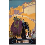 "Trademark Global ""See India"" Canvas Art, 24"" x 32"""