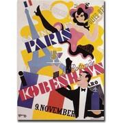 "Trademark Global ""Paris Kobenhavs"" Canvas Art, 18"" x 24"""