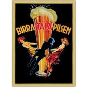 "Trademark Global ""Birra Itala Pilsen"" Framed Canvas Art, 35"" x 47"""