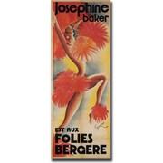 """Trademark Global """"Josephine Baker est aux Folies Bergere"""" Canvas Art, 24"""" x 47"""""""