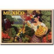 "Trademark Global ""Mexico"" Canvas Art, 24"" x 32"""