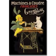 """Trademark Global """"Machines a Coudre"""" Canvas Art, 24"""" x 32"""""""