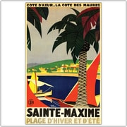 "Trademark Global Roger Broders ""Sainte Maxime"" Canvas Art, 24"" x 32"""
