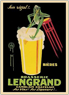 Trademark Global Bieres Brasserie Lengrand Framed Canvas Art, 24
