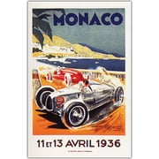 "Trademark Global ""Monaco 13 Avril 1936"" Canvas Art, 18"" x 24"""