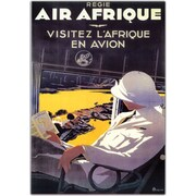 "Trademark Global A. Rouquin ""Air Afrique"" Framed Canvas Art, 18"" x 24"""