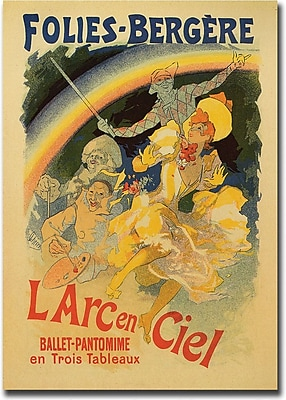 "Trademark Global Jules Cheret ""L'Arc en Ciel"" Canvas Art, 24"" x 32"""