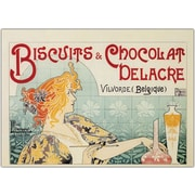 "Trademark Global ""Biscuits and Chocolate Delacre"" Framed Canvas, 35"" x 47"""