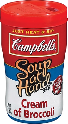 Campbells® Soup at Hand Microwaveable, Cream of Broccoli, 10.75 oz., 8 Cans/Box