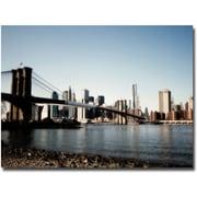 "Trademark Global Ariane Moshayedi ""Brooklyn Bridge"" Canvas Arts"