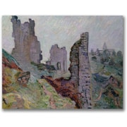 "Trademark Global Jean Baptiste Guillamin""Ruins In The Fog"" Canvas Art, 18"" x 24"""