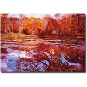 "Trademark Global David Lloyd Glover ""Scarlet Maples"" Canvas Art, 22"" x 32"""