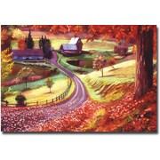 "Trademark Global David Lloyd Glover ""Road to Maplegrover Farms"" Canvas Art, 22"" x 32"""