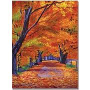 "Trademark Global David Lloyd Glover ""Leafy Lane"" Canvas Art, 18"" x 24"""