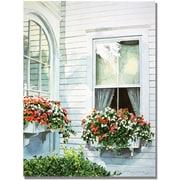 "Trademark Global David Lloyd Glover ""Window Boxes"" Canvas Art, 24"" x 32"""