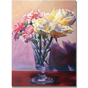 "Trademark Global David Lloyd Glover ""Essence of Rose"" Canvas Art, 35"" x 47"""