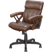 Whalen Astoria Bonded Leather Mid-Back Chair, Brown