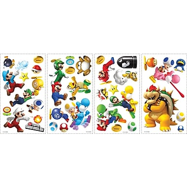 RoomMates® New Super Mario™ Bros. Wii Peel and Stick Wall Decal, 10