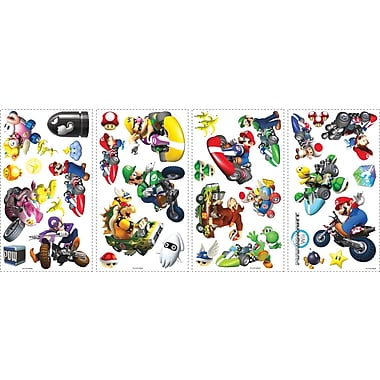 RoomMates® Mario Kart Wii Peel and Stick Wall Decal, 10