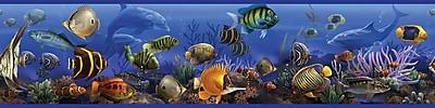 RoomMates® Under the Sea Peel and Stick Border, Black, Blue, Dark Gray, 180