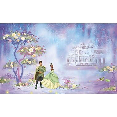 RoomMates® The Princess and The Frog Chair Rail Prepasted Wall Mural, 6 ft H x 10 1/2 ft W