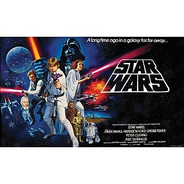 RoomMates® Star Wars™ Classic Chair Rail Prepasted Wall Mural, 6 ft H x 10 1/2 ft W
