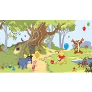 RoomMates® Pooh and Friends Chair Rail Prepasted Wall Mural, 6 ft H x 10 1/2 ft W