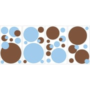 "RoomMates® Just Dots Blue/Brown Peel and Stick Wall Decal, 10"" x 18"""