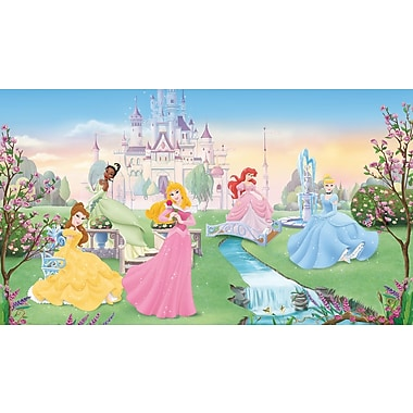 RoomMates® Disney Dancing Princess Chair Rail Prepasted Wall Mural, 6 ft H x 10 1/2 ft W