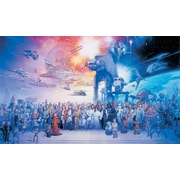 RoomMates® Star Wars™ Saga Chair Rail Prepasted Wall Mural, 6 ft H x 10 1/2 ft W