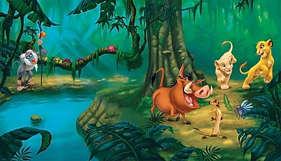 RoomMates® Lion King Chair Rail Prepasted Wall Mural, 6 ft H x 10 1/2 ft W
