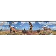 "RoomMates® Dinosaur Peel and Stick Border, Multi-color, 180"" L x 5"" H"