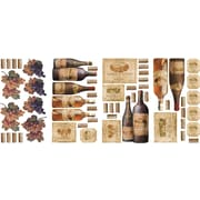 "RoomMates® Wine Tasting Peel and Stick Wall Decal, 10"" x 18"""