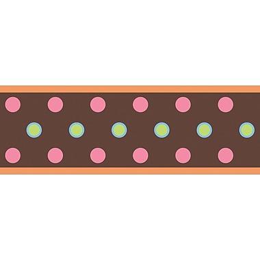 RoomMates® Polka Dot Peel and Stick Border, Brown, 180