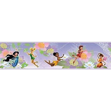RoomMates® Disney Fairies Peel and Stick Border, Purple, White , 180