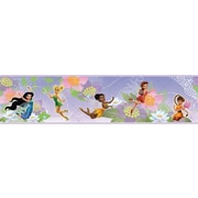 "RoomMates® Disney Fairies Peel and Stick Border, Purple, White , 180"" L x 5"" H"