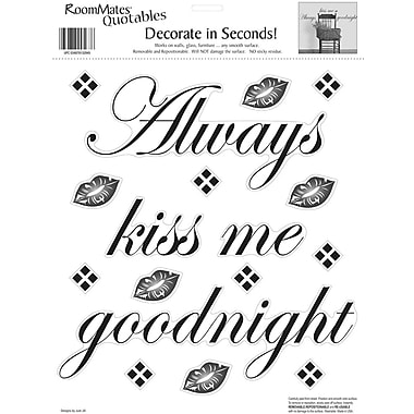 RoomMates® Always Kiss Me Goodnight Quote Peel and Stick Wall Decal, 10
