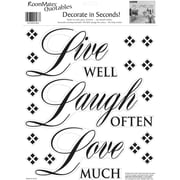 "RoomMates® Live Well, Laugh Often, Love Much Quote Peel and Stick Wall Decal, 10"" x 13"""