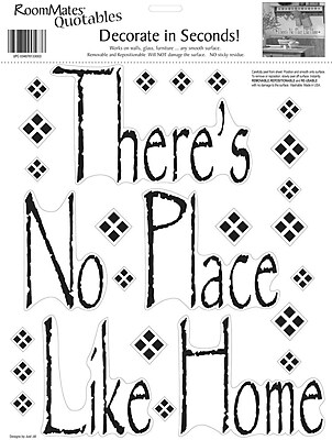 RoomMates® There's No Place Like Home Quote Peel and Stick Wall Decal, 10