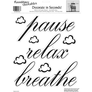 RoomMates® Pause, Relax, Breathe Quote Peel and Stick Wall Decal, 10