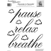 "RoomMates® Pause, Relax, Breathe Quote Peel and Stick Wall Decal, 10"" x 13"""