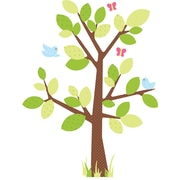 "RoomMates® Kids Tree Peel and Stick Giant Wall Decal, 18"" x 40"", 9"" x 40"""